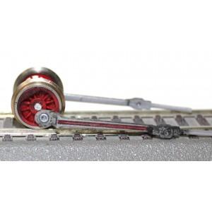 Tylne koło napędowe z wiązarami parowozu Junior - PIKO H0